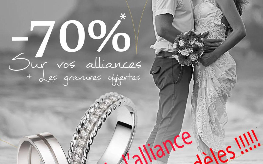 -70% sur vos alliances