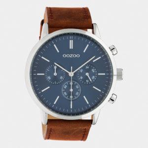 Montre pour Homme Oozoo Timepieces - cuir & argent